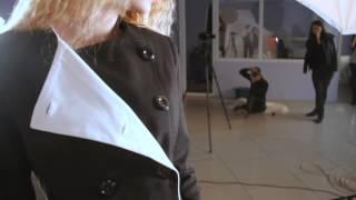 Черный классический пиджак с белым воротником Lilo