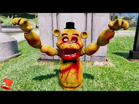NEW ZOMBIE FREDDY ANIMATRONIC! (GTA 5 Mods For Kids FNAF RedHatter)