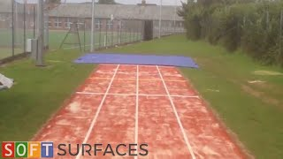 Long Jump Runway Installation in Colchester, Essex | Long Jump Pit Installation
