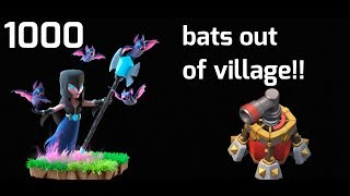 BATS OUTIDE THE BASE | AIR BLASTER VS NIGHT WITCH | COC FUNNY | ONE ELIXIR