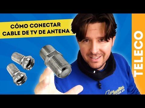 CÓMO HACER UN EMPALME PARA CONECTAR CABLE DE ANTENA