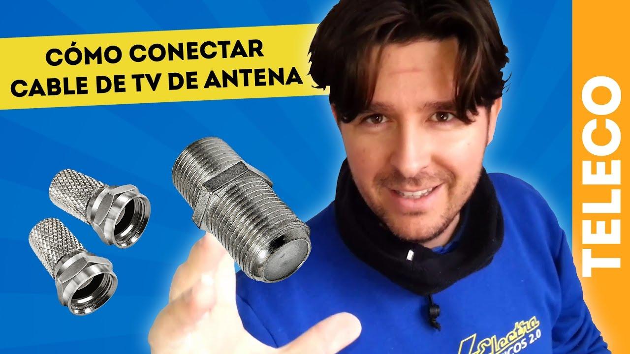 Cómo Hacer Un Empalme Para Conectar Cable De Antena Youtube