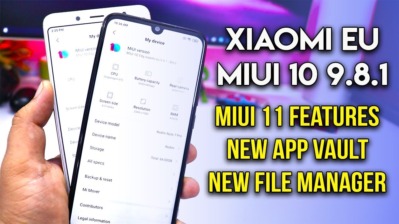 Xiaomi EU MIUI 10 9 8 1 for Redmi Note 5 Pro & Note 7 Pro | New MIUI 11  Features