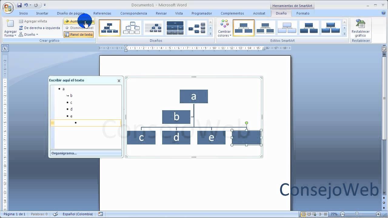 Word 2007 2010 como hacer un organigrama en word youtube - Como se hace una vidriera ...