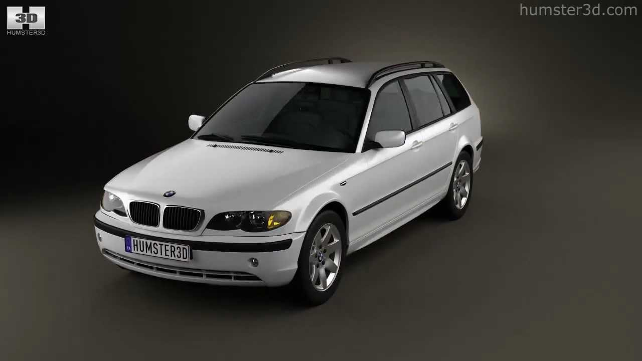 bmw 3 series touring e46 2001 by 3d model store. Black Bedroom Furniture Sets. Home Design Ideas