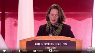 Grundsteinlegung Erfurt - Grußwort von Frau Mirjam Kruppa