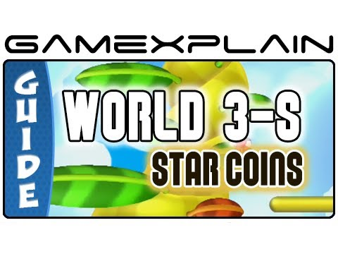 New Super Mario Bros. U - Sparkling Waters-Skyward Stalk Star Coins Guide