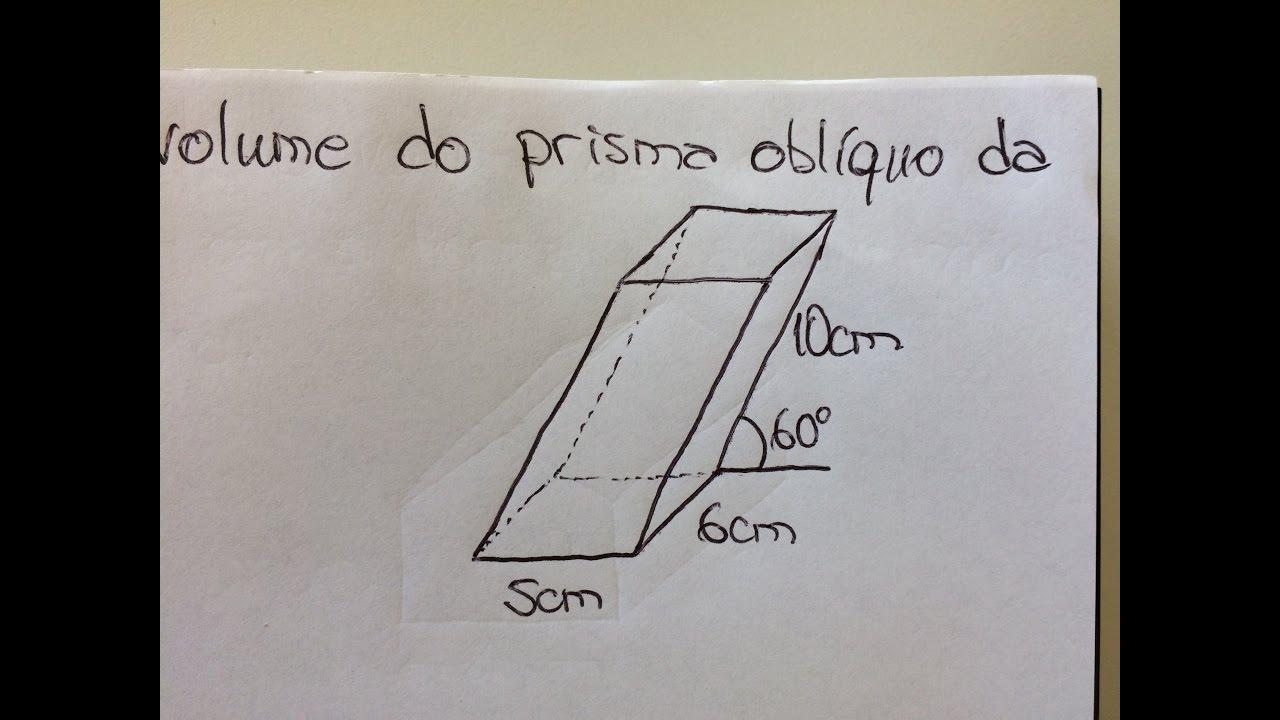 MFUNA | Gm2 - Como calcular o volume de um prisma oblíquo