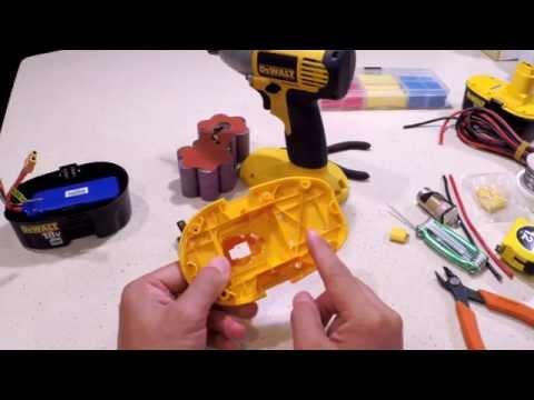 DeWALT 18V XRP NiCad Battery Pack Conversion to Lithium (5S Li-Po)
