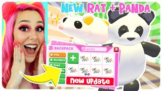 REACTING TO THE NEW GOLDEN RAT + PANDA PET IN ADOPT ME! Roblox Adopt Me Lunar New Year Pet Update!!