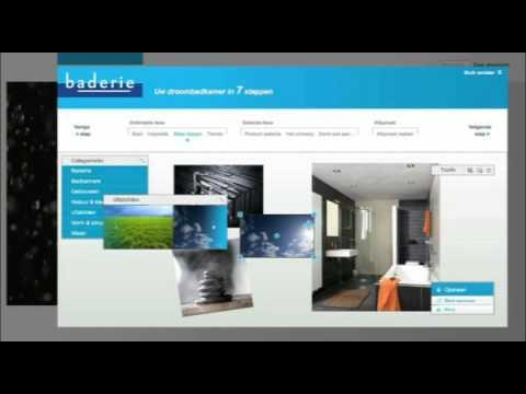 Badkamer ontwerpen   Baderie.nl badkamer Moodboard - YouTube