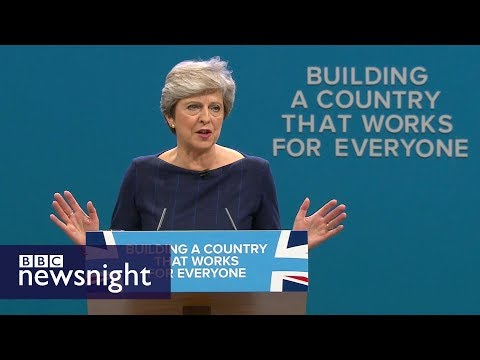 Theresa May's 'extraordinary' conference speech - BBC Newsnight