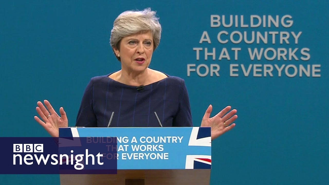 Theresa May's 'extraordinary' conference speech - BBC Newsnight ...