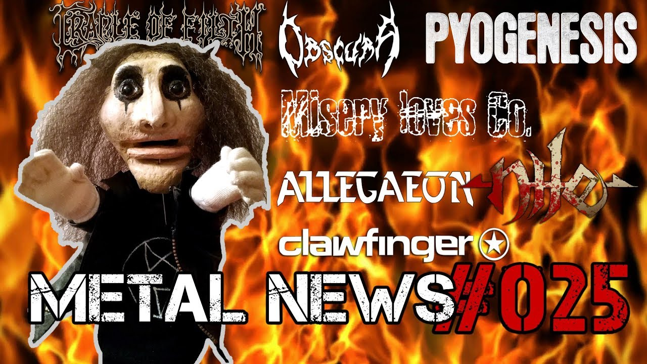 CRADLE OF FILTH, CLAWFINGER, NILE, PYOGENESIS | METAL NEWS #025 | Новости метал-музыки | Октябрь