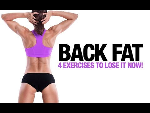 How to Lose Back Fat for Women (4 BEST EXERCISES!!)
