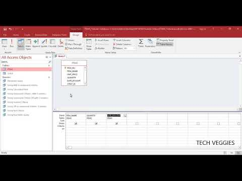 Sorting data in a query using MS Access Query Design View | Tech Veggies