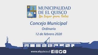 Concejo Municipal Ordinario 12 de Febrero 2020