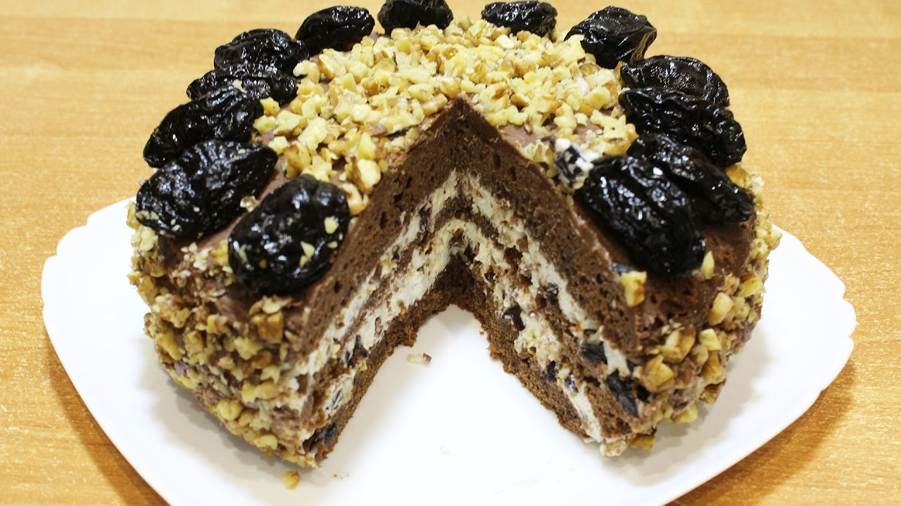 торт чорнослив рецепт
