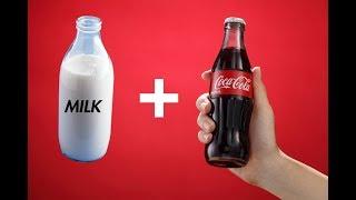 What Happens When You Add Milk To Coke ?? - Invisible Soda ?!?!