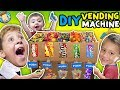 DIY Cardboard Dispenser Vending Machine!  FUNnel Vlog Fam