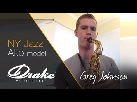 GREG JOHNSON PLAYING HIS DRAKE NY JAZZ 7 ALTO SAXOPHONE MOUTHPIECE