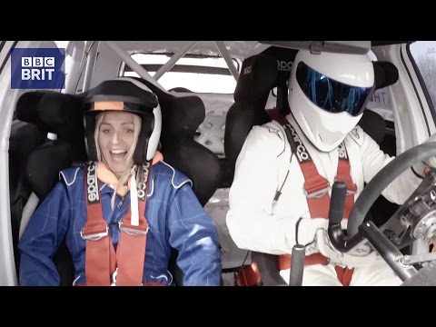 Therese Johaug rides with The Stig – BBC Brit launch in Norway - The Stig - Top Gear