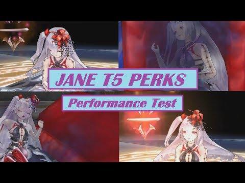 King's Raid - Jane T5 Perks + Attack Boost Value Test