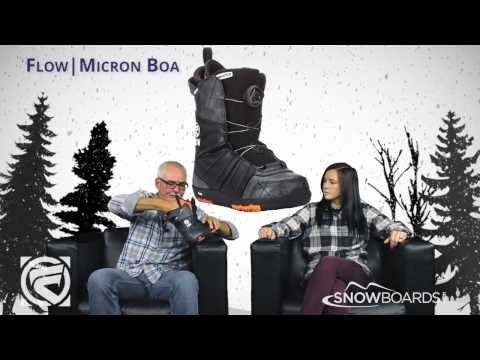 2016 Flow Micron Boa Kids Boot Overview By SnowboardsDotCom