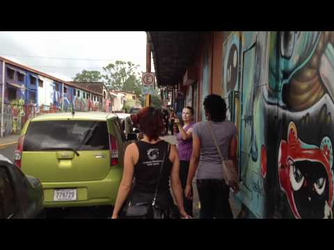 Walking the streets of San Pedro, Costa Rica