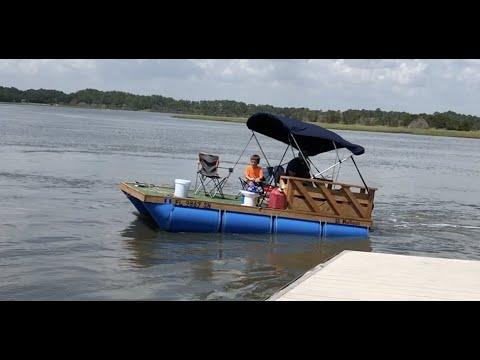 3 Homemade Barrel Boat Fishing Trips I N 8 Minutes
