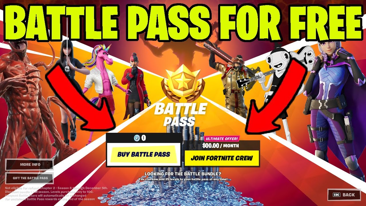 Download How To Get Season 8 Battle Pass For FREE GLITCH! (Chapter 2) Fortnite Season 8 Chapter 2 Battle Pass