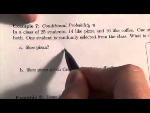 IB Conditional Probability Example 7