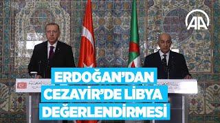 Cumhurbaşkanı Erdoğan, Cezayir Cumhurbaşkanı Tebbun ile Ortak Basın Toplantısı düzenledi
