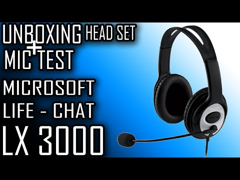 Microsoft Life-Chat LX 3000, UNBOXING + MIC TESTE