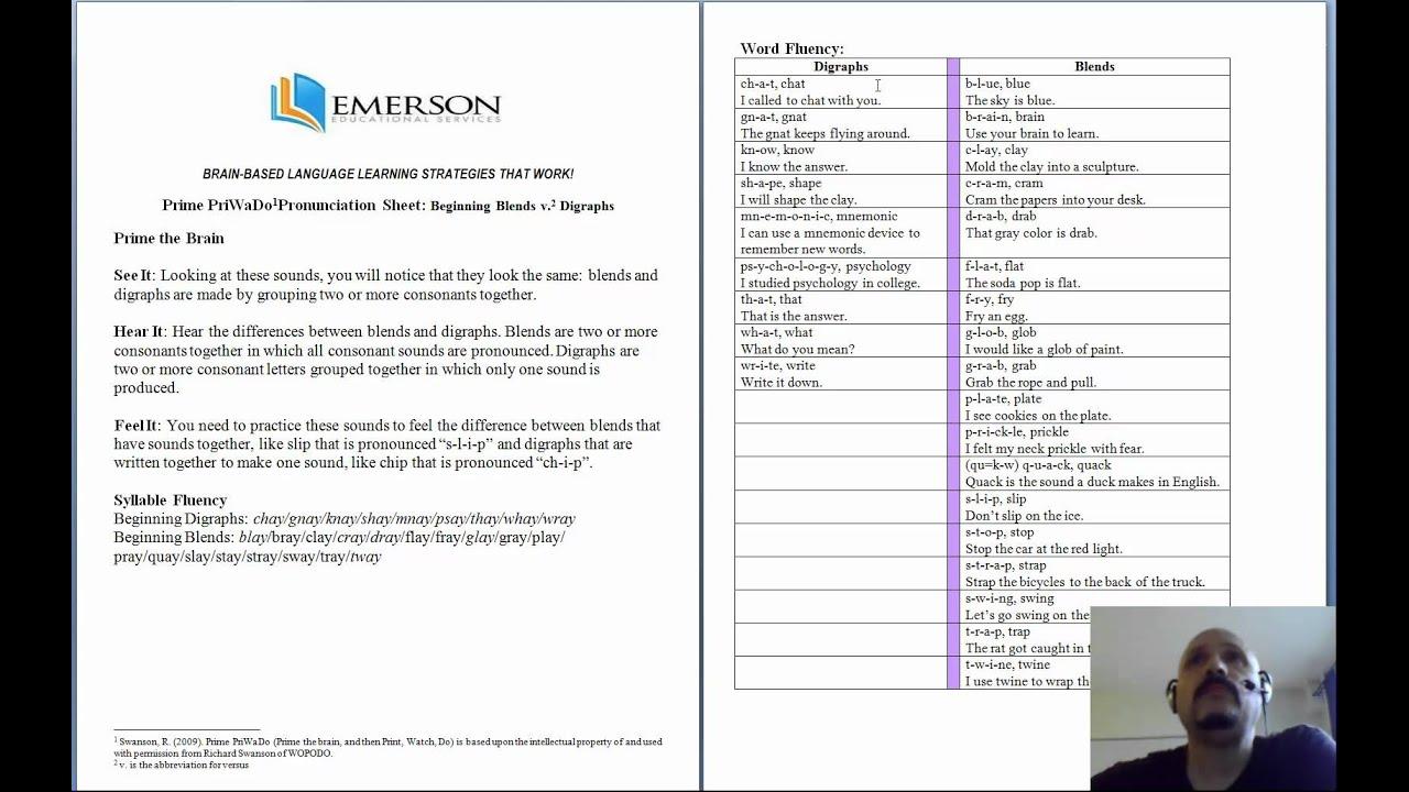 Blends Versus Digraphs Worksheet