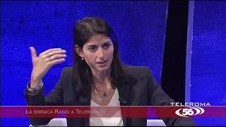 La Sindaca Raggi a Teleroma 56