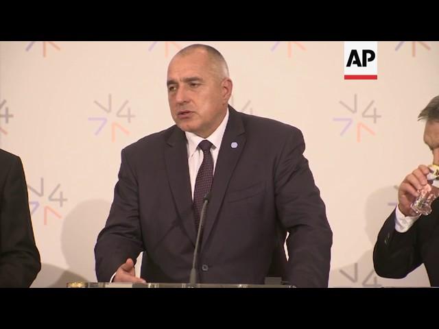 Visegrad summit leaders on migrant crisis