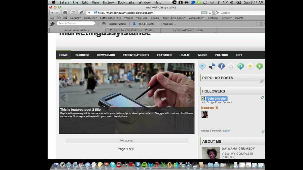 How to edit your Blogger template html *2012* - YouTube