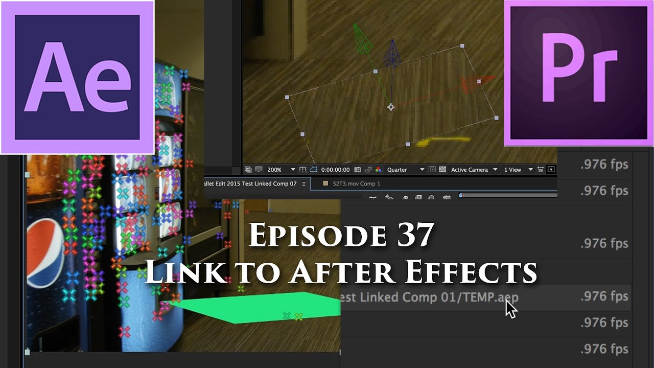 Episode 37 - Dynamic Link to After Effects - Tutorial for Adobe Premiere Pro CC 2015