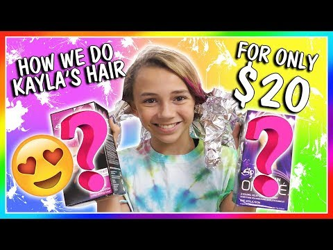 HOW WE DYE KAYLA'S HAIR FOR $20😀| We Are The Davises