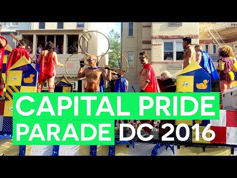 Capital Gay Pride Parade 2016 in Washington DC!