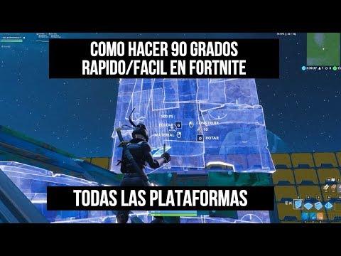 Como Hacer 90 Grados Más Rápido/Fácil En Fortnite (Todas Las Plataformas)Temporada X