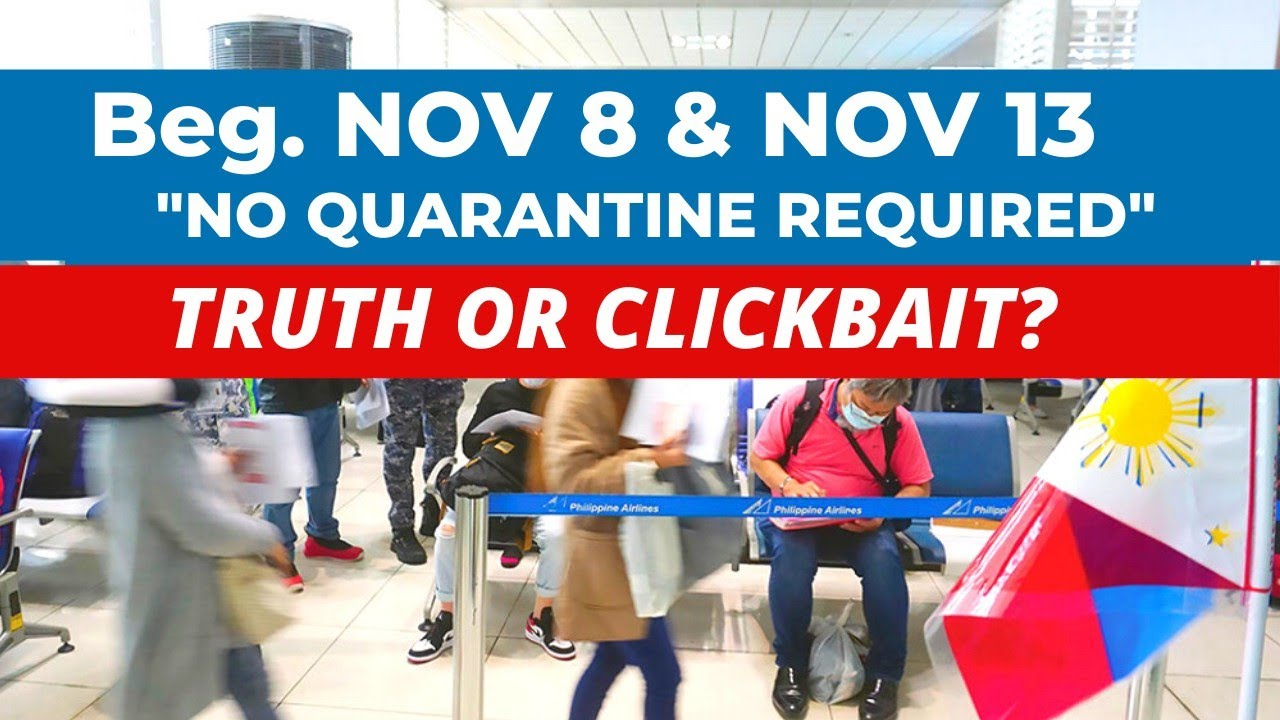 Download NO QUARANTINE HOTEL REQUIRED START NOV 8 & NOV 13: TRUTH OR CLICKBAIT?