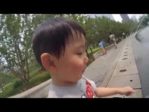 [2K] YI Action Cam 2K footage of Wangjing SOHO fountain - Sami Luo