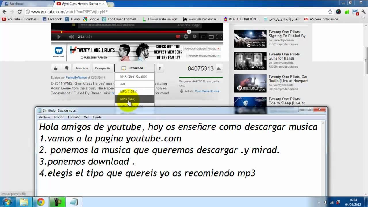 Como Descargar Musica De Youtube Sin Instalar Ningun