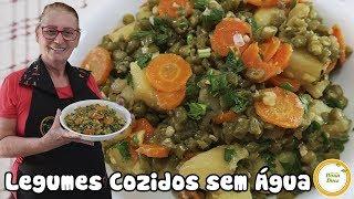 Legumes Cozidos SEM Água – Como Cozinhar Legumes de Forma SAUDÁVEL