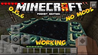 minecraft pe 0 15 7 working end portal in mcpe no mods how to go to the end in mcpe no mods