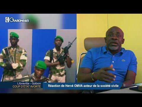 GABON / COUP D'ÉTAT AVORTÉ : Réaction de Hervé OMVA acteur de la société civile