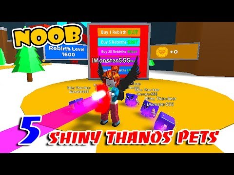 NOOB With 5 STRONGEST THANOS PETS !! The Best PET In MAGNET SIMULATOR!! (Roblox)