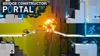 Companion Cubes! - Bridge Constructor Portal!